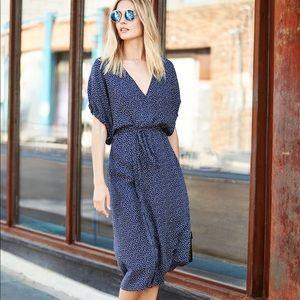 Vince silk wrap kimono dress, XS